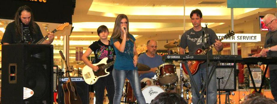 Brooke and the Barracudas at the Meadowbrook Mall on 8-1-12